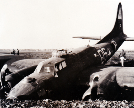 Close-up of Plane In Ditch
